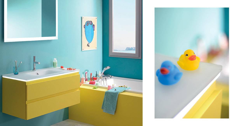 Salle de bain halo jaune  - Sanijura