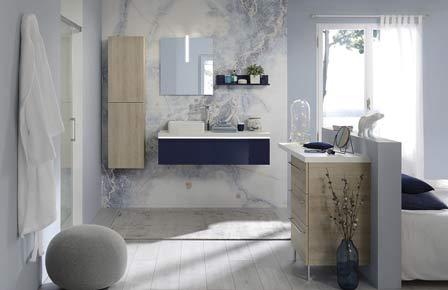 salle de bain halo laque bleu - Sanijura