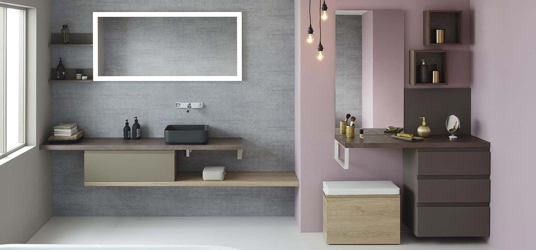Salle de bain halo noir inspiration spa urbaine