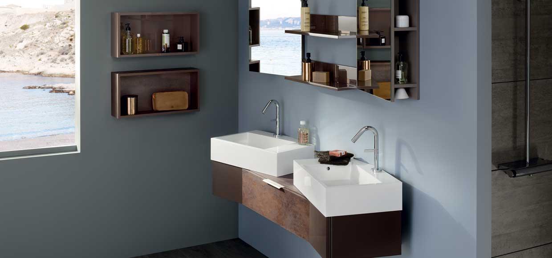 Salle de bain vertigo cuivrée