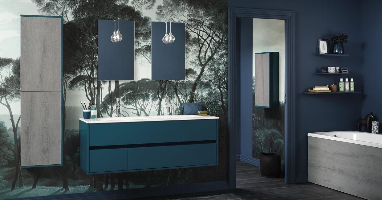 Salle de bain frame bleu canard - Sanijura