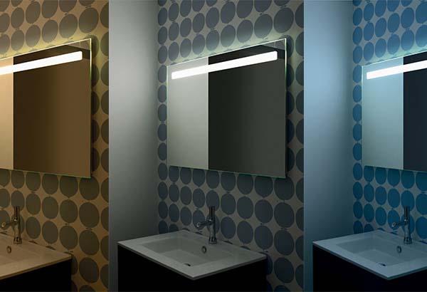 Das sortiment reflet spiegel badezimmerspiegel sanijura for Miroir reflet sens 90